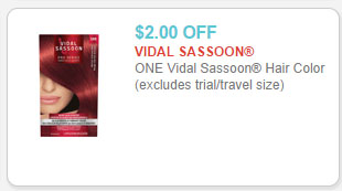 vidal sassoon hair color coupon