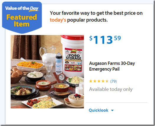 Walmart Values of the Day: Bean Bag Toss Just $59 or Augason Emergency Pail for $85!