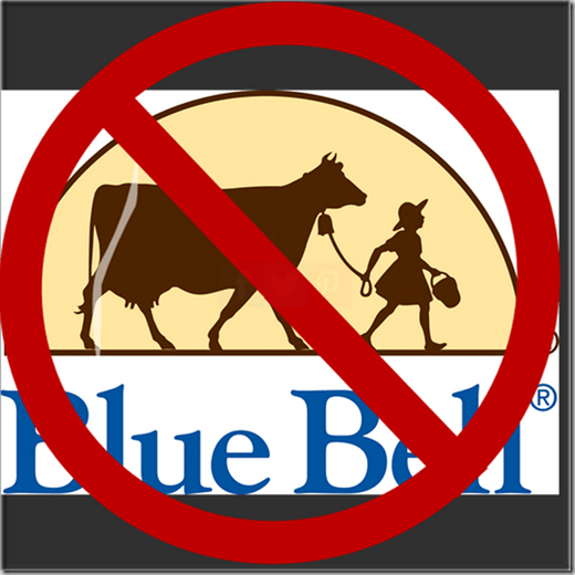 RECALL NOTICE: Blue Bell Recalls ALL Products Made in their OK Plant!
