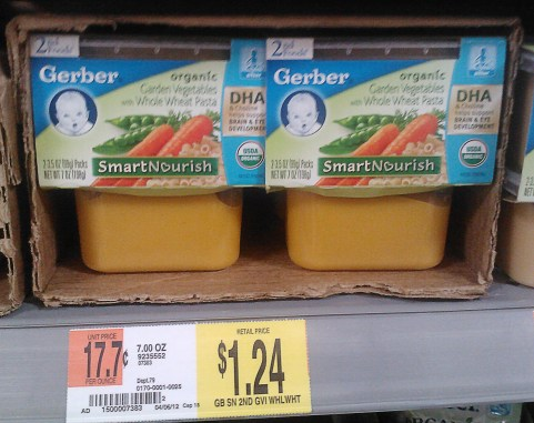 Gerber 2nd Foods Baby Food Just $0.91 at Walmart!