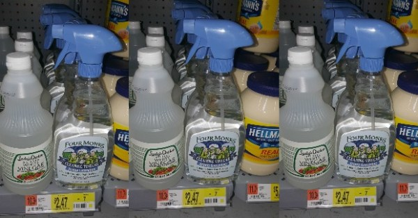 FREE Four Monks Cleaning Vinegar With Overage At Walmart!