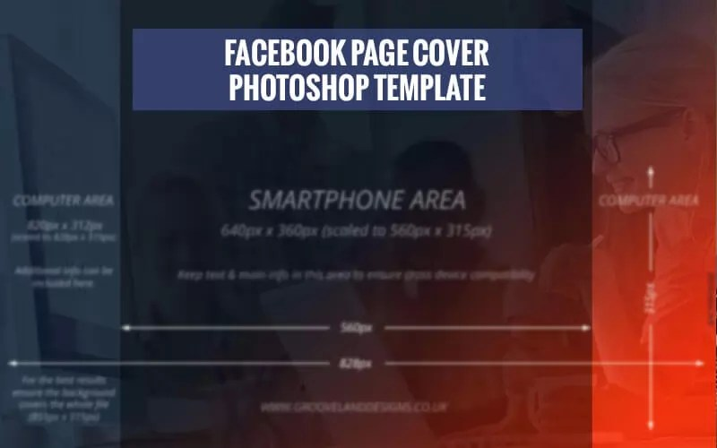 Facebook Page Cover 2018 - Photoshop Template (PSD)  Dimensions - facebook header template