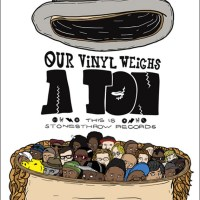 Art: STONES THROW // OUR VINYL WEIGHS A TON Poster Contest Winner: GUY JANG