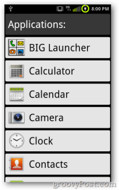 Big Android Launcher Tour