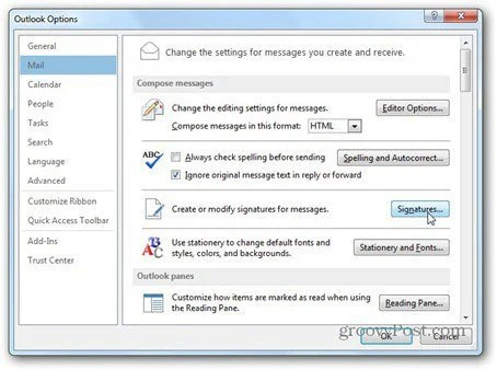 Outlook 2013 How To Create and Use a Signature