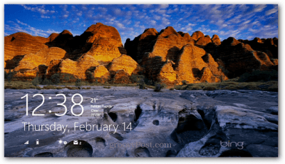 Make Bing Images Your Windows 8 Lock Screen Background
