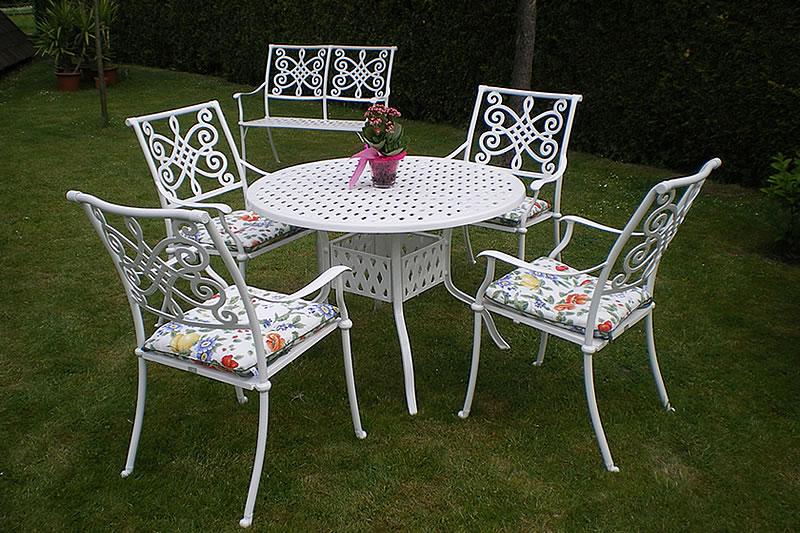 gartenmobel-weis-metall-26. amazonde tisch + 2 stühle *nostalgie ... - Gartenmobel Weis Metall