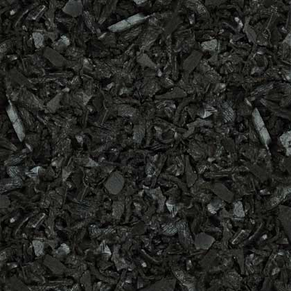 Espresso Black Rubber Mulch Color Example Swatch