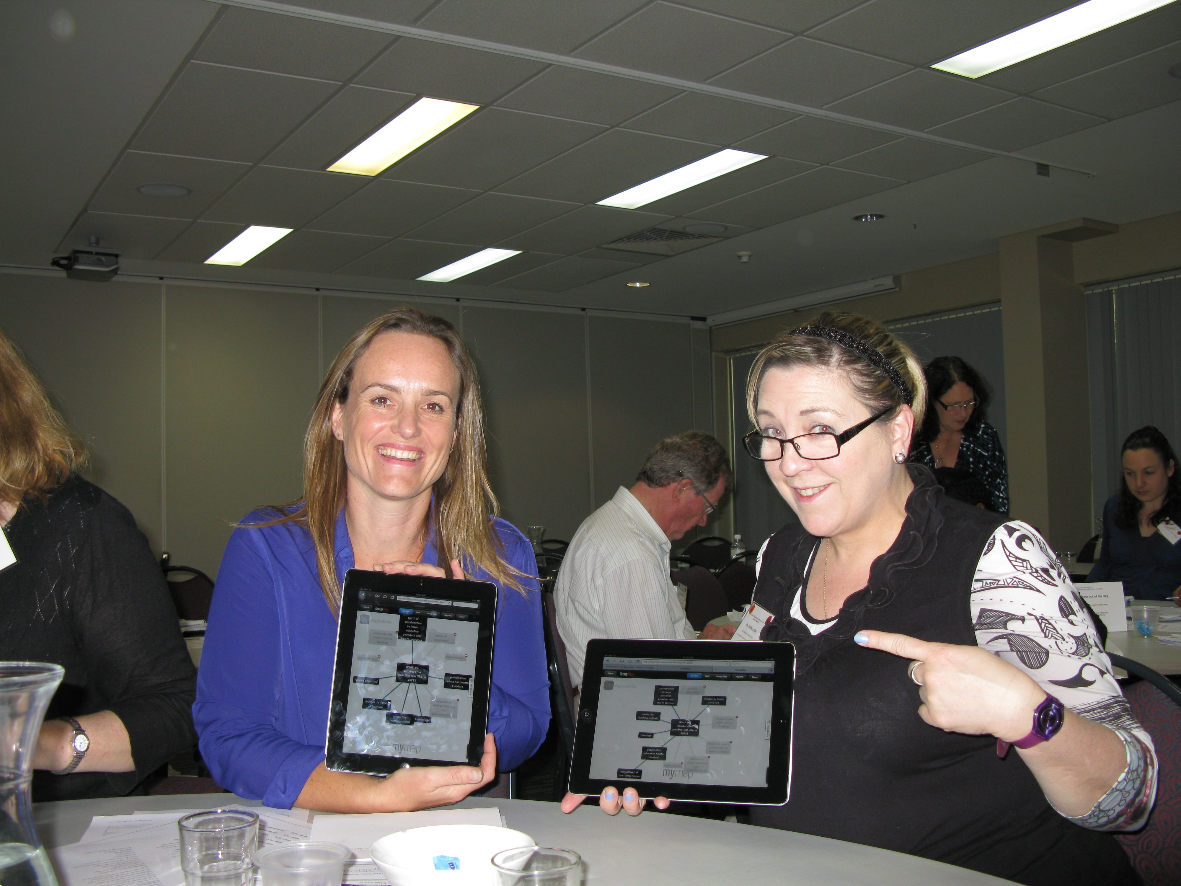 Innovative group response system used as scenario planning software to explore the future of Australia's Health.