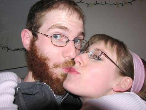 Girl Kissing Beard