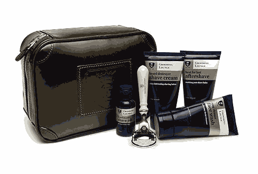 Beard grooming kit with razor