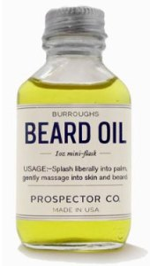 Vial of prospector beard oil.