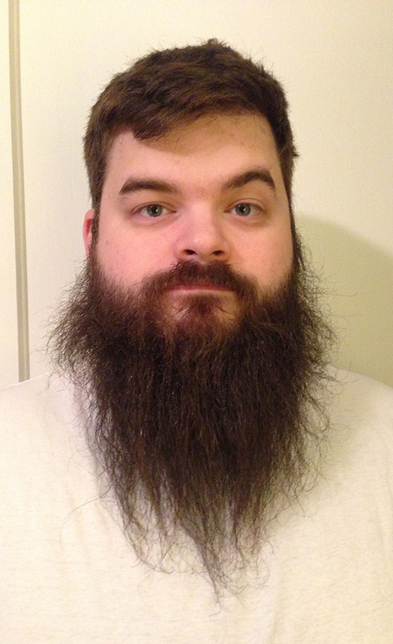 A straightened beard.