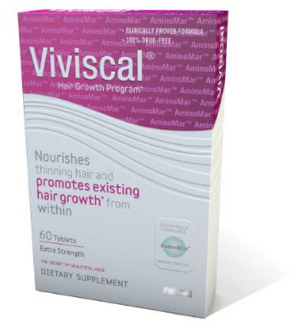 A photo of Viviscal beard growth pills.