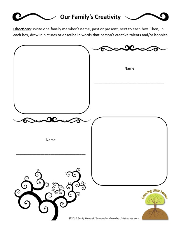 Printables - Growing Little Leaves Genealogy for Children