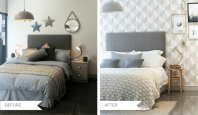Modern country bedroom makeover with Sharps' Henley range ...