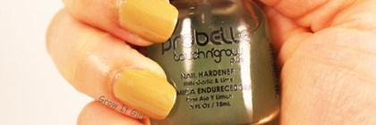 Nails After Probelle Touch N' Grow Nail Hardener Formula 1 Garlic and Lime