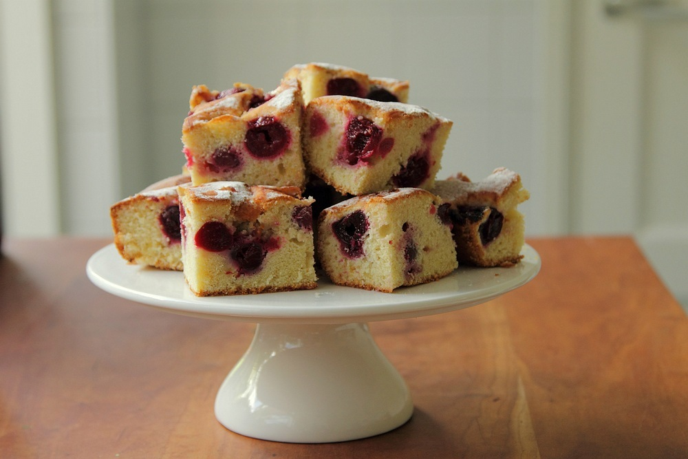 Cherry `bubble` cake