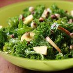 Kale salad with orange dressing