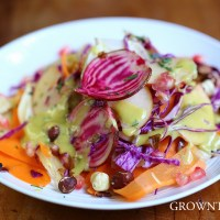 Fall coleslaw with hazelnuts and pomegranate