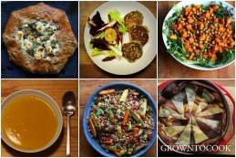 A week of eating from the garden fall