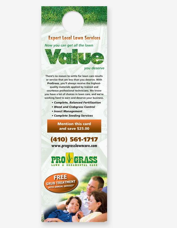 Green industry marketing door hangers