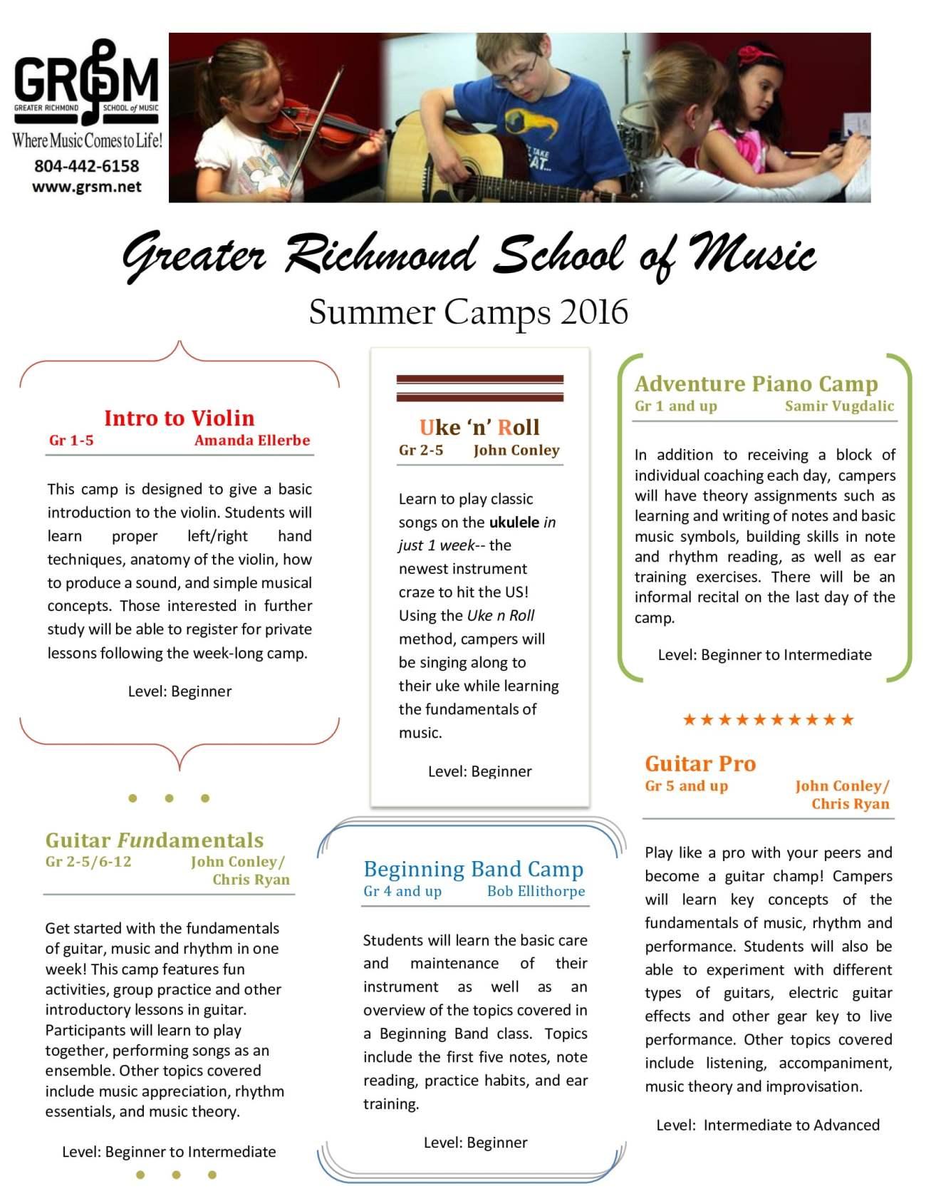 GRSM_Summer_Camps_2016_Front_