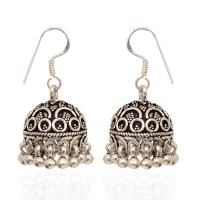 jhumki-Earrings | 925 Silver Hook With Antique Finishing ...