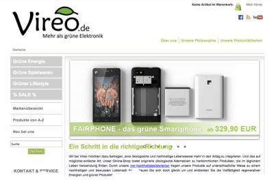 """Umweltfreundlicher Onlineshop vertreibt als einziger deutschlandweit das nachhaltig produzierte """"Fairphone"""""""