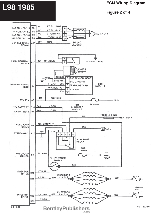 1985 corvette engine harness diagram