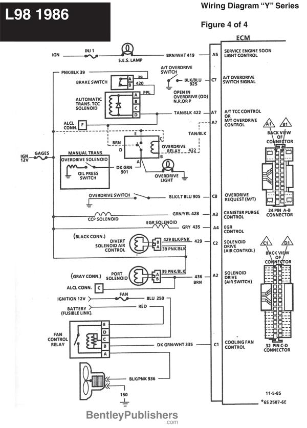 86 corvette radio wiring diagram