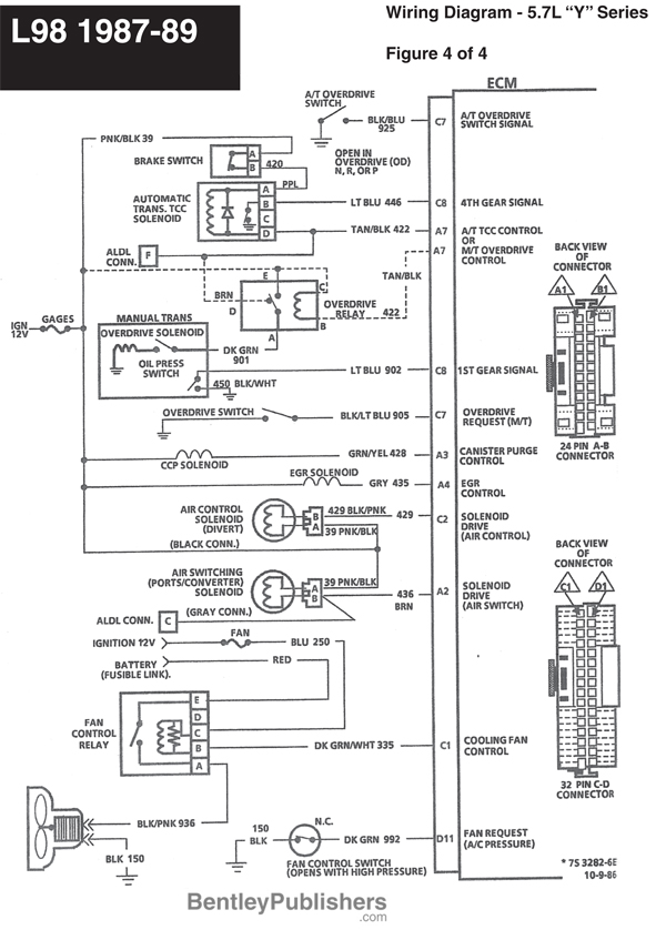 1987 c4 corvette wiring diagram schematic