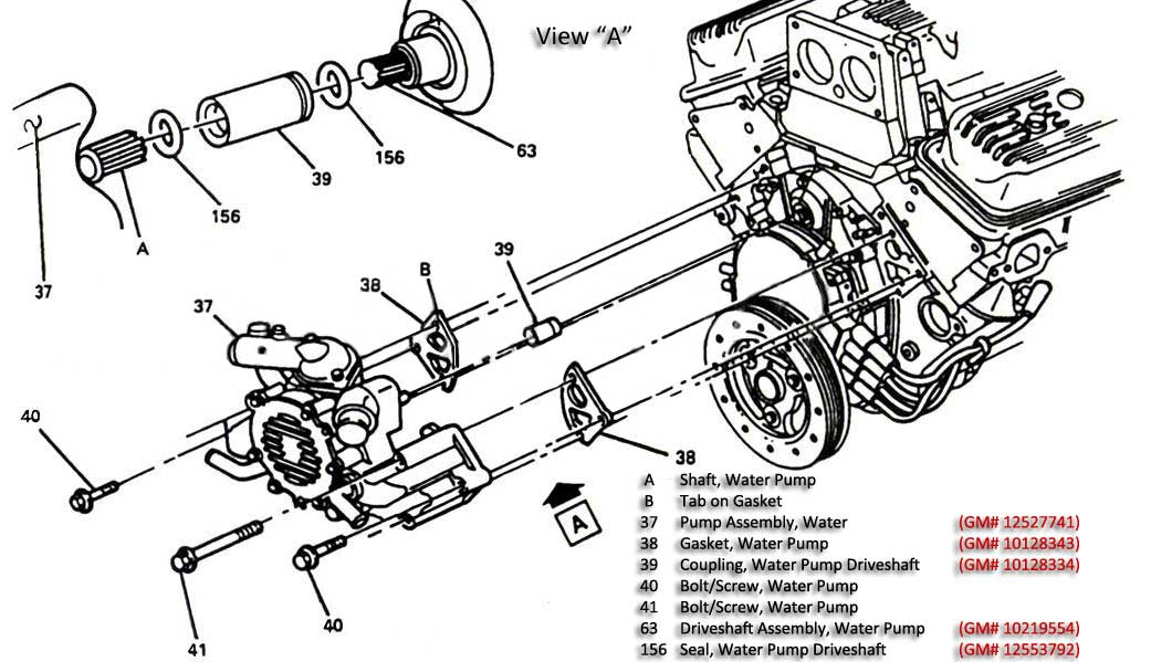 350 chevy cooling diagram