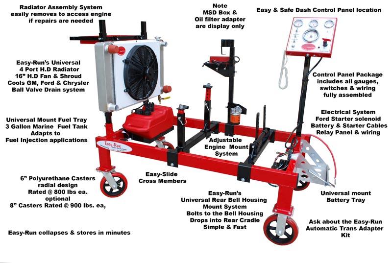 engine test run stand Grumpys Performance Garage