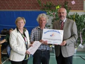 Verleihung der Urkunde 2012