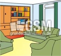 Wohnzimmer - T-Z - Anlautbilder - Deutsch Klasse 1 ...