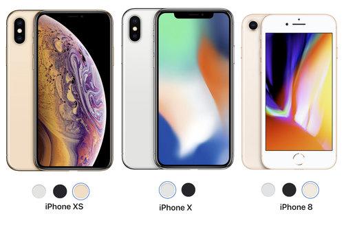 porownanie iphone xs x 8