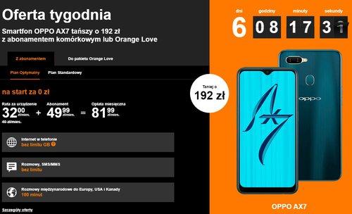 zrzut ekranu z Orange Polska