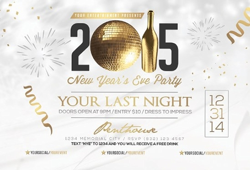 For a Great New Year Party \u2013 Free Flyer Templates Collection GT3 - free new years eve flyer template