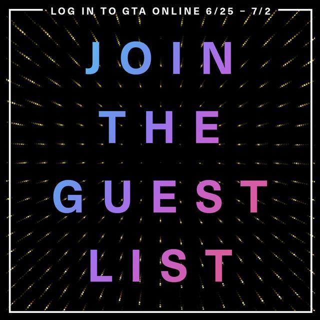 GTA Online Get on the Guest List for Exclusive Benefits! - Grand