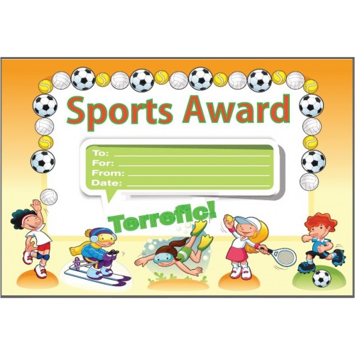 Sports Award Certificate, awards , certificates , incentives, GT