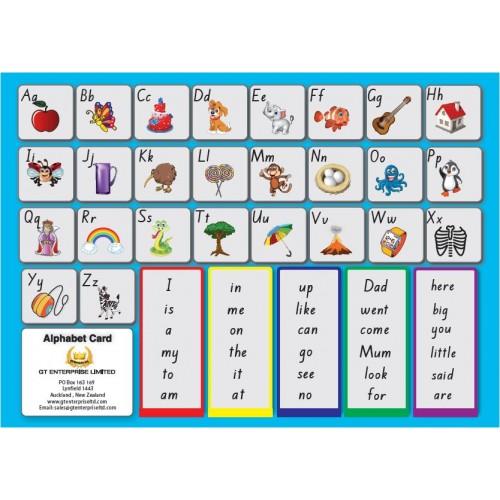 Alphabet Card, Dictionary Card, Blends and Digraphs, Junior Literary