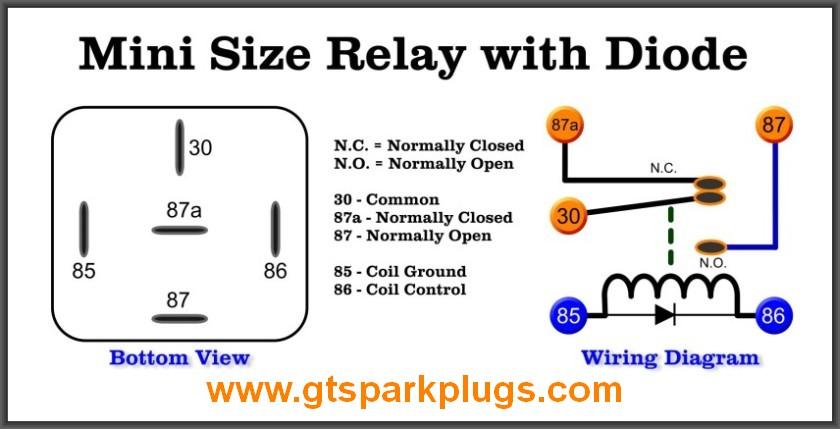 12 Volt 30 Amp Relay Wiring Diagram Online Wiring Diagram