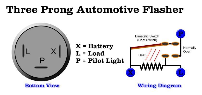 3 pin turn signal flasher wiring diagram