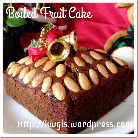 Fatless Boiled Fruit Cake