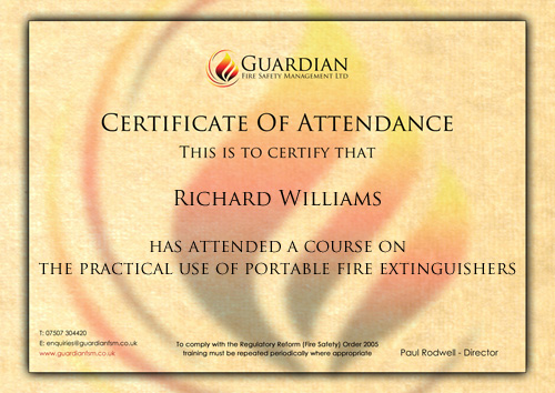 Fire Extinguisher Training Courses in Ipswich, Suffolk, Essex and