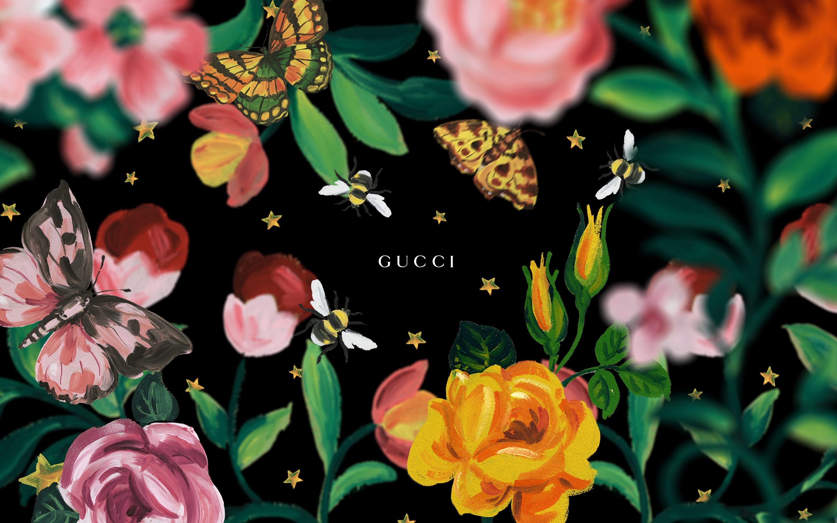 Floral Print Iphone Wallpaper Gucci Garden Screensaver Gucci Official Site United States