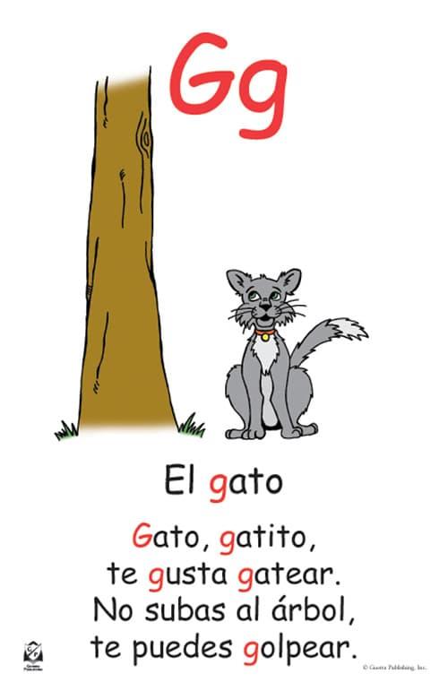 Guerra Publishing - Teacher Resource Materials - spanish alphabet chart