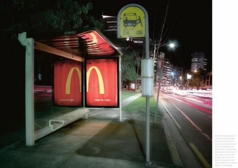 guerrillamarketing bushokje Mcdonalds