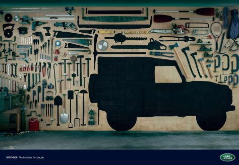 land rover advertentie defender tool